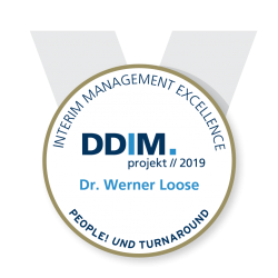 DDIM Kongress Award 2019 gold Dr Werner Loose