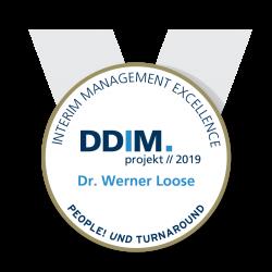 DDIM Kongress Award 2019 gold Dr Werner Loose